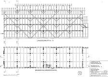 Längsschnitt Nordwesten, Grundriss (Crowell Architekten) / Tabakschuppen in 76353 Weingarten, Weingarten (Baden)