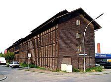 Tabakschuppen, Ansicht von Nordosten (Crowell Architekten) / Tabakschuppen in 76353 Weingarten, Weingarten (Baden)
