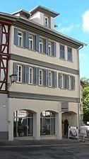 Ansicht aus Richtung Norden, August 2007. Foto: Dietmar Hencke (StadtA SHA Server Häuserlexikon) / ehem. Haalapotheke in 74523 Schwäbisch Hall
