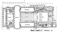 Konzerthaus, Grundriss, Urheber: Rupprecht + Partner, Architekturbüro / Konzerthaus in 76137 Karlsruhe, Südweststadt