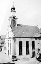 Evang. Stadtkirche, 1766, Ansicht SW Quelle: Bildarchiv Foto Marburg / Evangelische Stadtkirche in 74740 Adelsheim