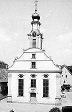 Evang. Stadtkirche, 1766, Westfassade Quelle: Bildarchiv Foto Marburg / Evangelische Stadtkirche in 74740 Adelsheim