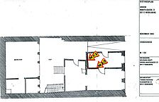 Wohnhaus, Grundriss EG, Urheber: Knoch, Peter (Bauforschung - Bauaufmaße - Dokumentationen) / Wohnhaus in 69117 Heidelberg-Altstadt