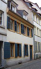 Wohnhaus, Ansicht von Nordwesten, Urheber: Knoch, Peter (Bauforschung - Bauaufmaße - Dokumentationen) / Wohnhaus in 69117 Heidelberg-Altstadt