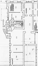 Gundriss EG, Ausschnitt, Urheber: Vaculik, Hubert (Restaurator) / Wohn- und Geschäftshaus in 69115 Heidelberg-Weststadt