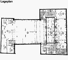 ehem. Lutherhaus, Grundriss, 1. OG.,  Urheber: Schröder Stichs Volkmann (freie Architekten) / ehem. Lutherhaus in 69115 Heidelberg-Bergheim