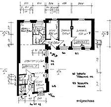 Wohnhaus, Grundriss EG,  Urheber: Maier, Hansjörg +Partner (Freier Architekt) / Wohnhaus in 69117 Heidelberg-Altstadt
