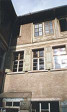Wohnhaus, Innenhof, Fassade, Ausschnitt,  Urheber: Maier, Hansjörg +Partner (Freier Architekt) / Wohnhaus in 69117 Heidelberg-Altstadt