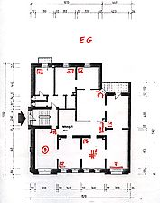 Wohn- und Geschäftshaus, Grundriss, EG, Urheber: Bertolino, Lothar (Freier Architekt)  / Wohn- und Geschäftshaus in 69117 Heidelberg-Altstadt