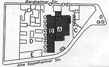 ehem. Schlossquelle-Brauerei, Lageplan, Urheber: Jourdan & Müller PAS  / ehem. Schlossquelle-Brauerei  in 69115 Heidelberg-Bergheim