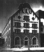 ehem. Schlossquelle-Brauerei, historische Aufnahme (1927), Ansicht von Südosten, Urheber: Jourdan & Müller PAS / ehem. Schlossquelle-Brauerei  in 69115 Heidelberg-Bergheim