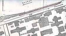 Blumsches Freibad, Lageplan Quelle: Heinrich Bechert & Partner (Bruchsal, Ingenieurbüro für Bauwesen) / Blumsches Freibad in 69115 Heidelberg-Bergheim