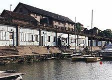 Blumsches Freibad, Ansicht NO, 1993 Quelle: Heinrich Bechert & Partner (Bruchsal, Ingenieurbüro für Bauwesen) / Blumsches Freibad in 69115 Heidelberg-Bergheim