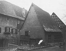 Mühlenstraße 21, rückwaertiges Hofgebäude, aufgen. 1985 Quelle: Bildarchiv Foto Marburg / Wohnhaus in 74706 Osterburken