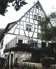 Doppelhaus, Ansicht von Osten,  Urheber:: Reck, Hans-Hermann (Büro für Bauhistorische Gutachten) / Doppelwohnhaus in  6941 Eberbach-Igelsbach