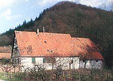 Bauernhaus der ehem. Talmühle, Ansicht von Westen,  Urheber: Reimers, Holger & Scheer, Christine / Bauernhaus der ehem. Talmühle in 69493 Großsachsen