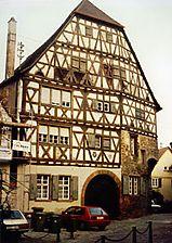 sog. Neunhellerhof , Ansicht von Westen, Urheber: Regierungspräsidium Karlsruhe, RPK, Ref. 26 / sog. Neunhellerhof in 68526 Ladenburg