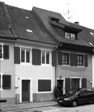 Südansicht der Gebäude Spitalstraße 25 und 23 (li.)  / Wohnhaus in 79219 Staufen, Staufen im Breisgau (Stadtarchiv Staufen )