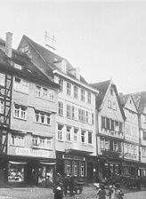 Ansicht vom Markplatz aus den 1920/30er Jahren (Quelle: www.bildindex.de) / Obere Hofapotheke, Rüdigerhof in 97877 Wertheim
