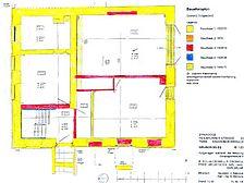 Ehem. Synagoge , Baualtersplan, EG Quelle: Dr. Joachim Kleinmanns / ehem. Synagoge in 74889 Sinsheim-Rohrbach
