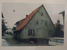 Mudau, Wohnhaus, Nordgiebel Quelle: Dr. Hans-Hermann Reck, Büro für bauhistorische Gutachten (Wiesbaden) / Wohnhaus in 69427 Mudau, Schloßau