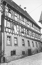 Mosbach, altes Hospital, 15. Jahrhundert, Umbau 1521, aufgen. 1970