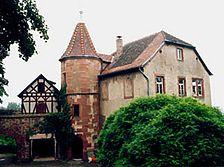 """Sog. Kommandantenhaus, """"Popposches Schlößchen"""", Südwestansicht Quelle: Säubert/Lorenz (Karlsruhe) / sog. Kommandantenhaus, """"Popposches Schlößchen""""  in 69151 Neckargmünd-Dilsberg"""