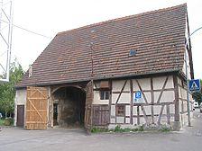 Ansicht der Scheune von Nordwesten (2008) / sog. Ochsenscheune in 71554 Weissach im Tal - Unterweissach