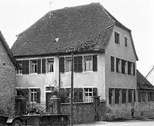 Ev. Pfarrhaus, Ansicht Nordosten Quelle: Sternemann, Hugo (Sinsheim, Architektur- und Städtebaubüro)  / Evangelisches Pfarrhaus in  7488 Sinsheim-Adersbach