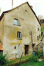ehem. Wohnhaus, Ansicht, Südfassade von Südwesten,  Urheber: Reck, Hans-Hermann (Büro für Bauhistorische Gutachten) / ehem. Wohnhaus in 74889 Sinsheim-Hilsbach