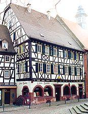 Löwenapotheke, Ansicht von NW Quelle: Peter Schneider (Büro für Bauforschung) / Löwenapotheke in 69469 Weinheim