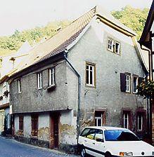 Wohnhaus, Ansicht von Nordwesten Quelle: Hans-Hermann Reck (Büro für Bauhistorische Gutachten) / Wohnhaus in 69469 Weinheim
