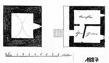 Criminalturm, Grundriss EG und OG von 1887, (StA Liebenzell 923.2-3) Urheber: Stadtarchiv Bad Liebenzell / Criminalturm in 75378 Bad Liebenzell