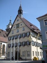 Stuttgart, Altes Rathaus, Ansicht SW / Altes Bezirksrathaus, Rathaus in 70372 Stuttgart, Bad Cannstatt