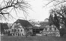 Heimsheim, Hauptstraße 9, Gasthaus Waldhorn / Gasthaus Waldhorn in 71296 Heimsheim (01.01.1972 - Bildindex Foto Marburg)