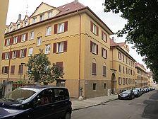 Ansicht der Siedlung von Südwesten entlang der Rotenbergstraße (2010) / Siedlung Rotenbergstraße in 70190 Stuttgart, Stuttgart-Ost (02.08.2010)