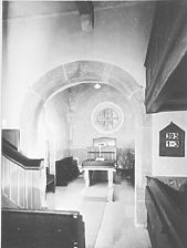 Knittlingen-Hohenklingen Evang. Kirche / Evangelische Filialkirche in 75438 Knittlingen, Hohenklingen (01.01.1962 - Foto Marburg Microfiche-Scan)