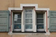 Fensterdetail / ehem. Spital in 79219 Staufen, Staufen im Breisgau (29.01.2009 - Lohrum)