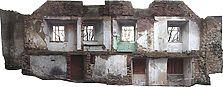 Pfullendorf, Uttengasse 1, Stadtseite. Verzeichnungskorrigierter und entzerrter Bildverband. / Stadtmauer, Uttengasse 1 + 3  in 88630 Pfullendorf (25.11.2010 - Michael Hermann)