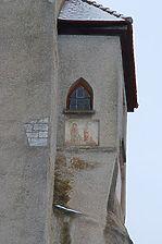 Burg Katzenstein, Kapellenbau: Erker über der Kapellenapsis von Süden. / Burg Katzenstein, Kapellenbau in 89561 Dischingen - Katzenstein (21.01.2011 - Michael Hermann)