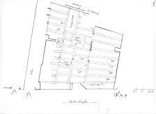 Befundplan, EG, Grundriss, Handaufmaß / Wohnhaus, Färberstraße 5 in 78050 Villingen (01.05.1999 - Lohrum)