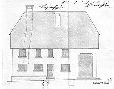 Nordansicht (Baugesuch von 1880) / Wohnhaus mit Bäckerei in 88255 Baienfurt (04.04.1880 - Gemeindearchiv Baienfurt)