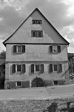 Nord Ansicht / Bäuerliches Wohnhaus des Einhaustyps in 74172 Neckarsulm-Dahenfeld (20.05.2011)