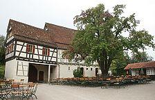 Hofseite des Dosterhauses im FLM Beuren / Hof Wyrich, Haus Mannsperger, Dosterhaus; Wohn- und Wirtschaftsgebäude aus Tamm in 71732 Tamm (18.08.2011 - Becker_priv)
