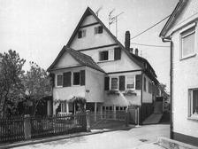 Ehem. Badehaus (1984) / ehem. Badehaus in 72555 Metzingen (21.01.1984 - Bildindex Foto Marburg: LAD Baden-Württemberg, Außenstelle Tübingen, Microfiche-Scan mi07301a14)