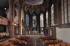 Hauptschiff Blick nach Osten / Hospitalkirche in 70174  Stuttgart, Stuttgart-Mitte (24.08.2015 - strebewerk. Architekten GmbH, Dr.-Ing. Elke Nagel)