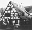 Nordgiebel zur Belremstraße (1987) / Fachwerkhaus in 75180 Dillweißenstein (LAD Baden-Württemberg, Außenstelle Karlsruhe, Microfiche-Scan mi08632b06)