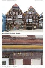 Ansicht Ostfassade und Inschriftdetail (2011) / Wohn- und Geschäftshaus (Alte Post) in 75031 Eppingen (01.07.2011 - Götz Echtenacher)
