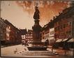 Historische Aufnahme der Marktstätte 1873 mit neu errichtetem Siegesdenkmal / Wohnhaus in 78426 Konstanz (20.08.2013)