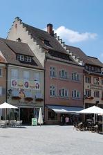 Herrenstraße 1 mit Staffelgiebel, Ansicht Ost / Sog. Haus Rose in 88239 Wangen im Allgäu (28.06.2010 - A. Kuch)
